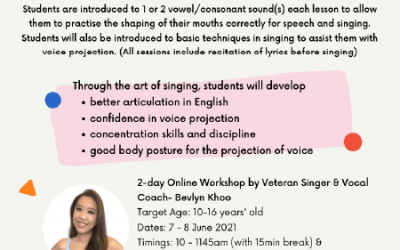 Jun Holiday Workshop: Improve English Diction for Speech & Singing with Bevlyn Khoo