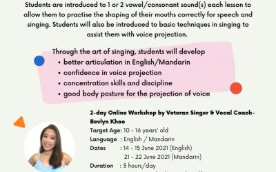 Jun Holiday Workshop: Improve Chinese Diction for Speech & Singing with Bevlyn Khoo